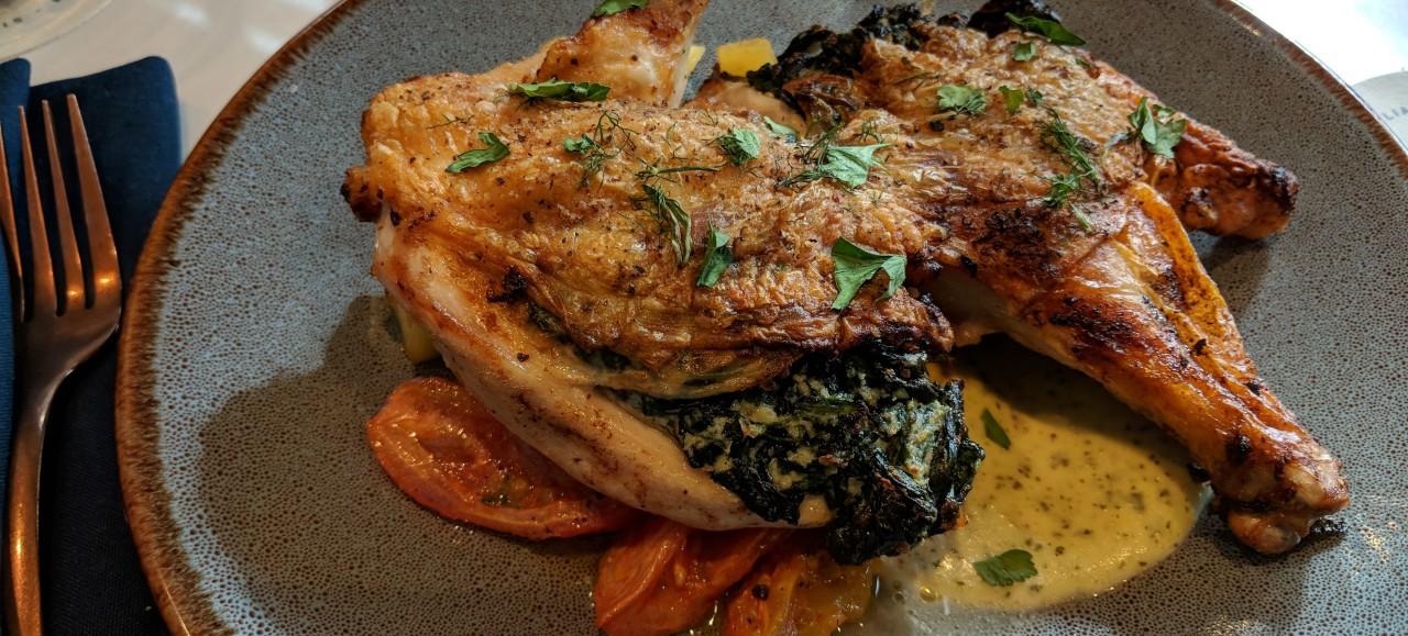 Signature chicken dish at Tavola Italian Kitchen + Bar