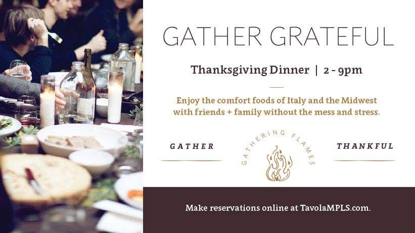 Gather Grateful. Thanksgiving Dinner 2-9